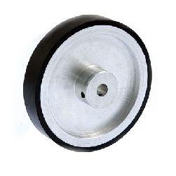 Kółko aluminiowe gumowane typ 64, obwód = 200mm, fi= 6mm